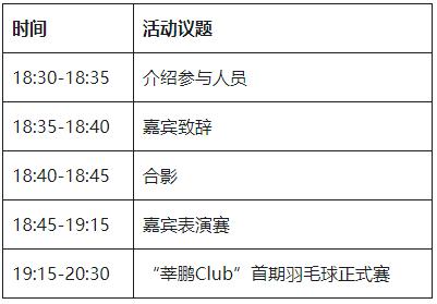 """""""莘鹏 Club""""体育活动启动仪式暨首期羽毛球活动通知"""